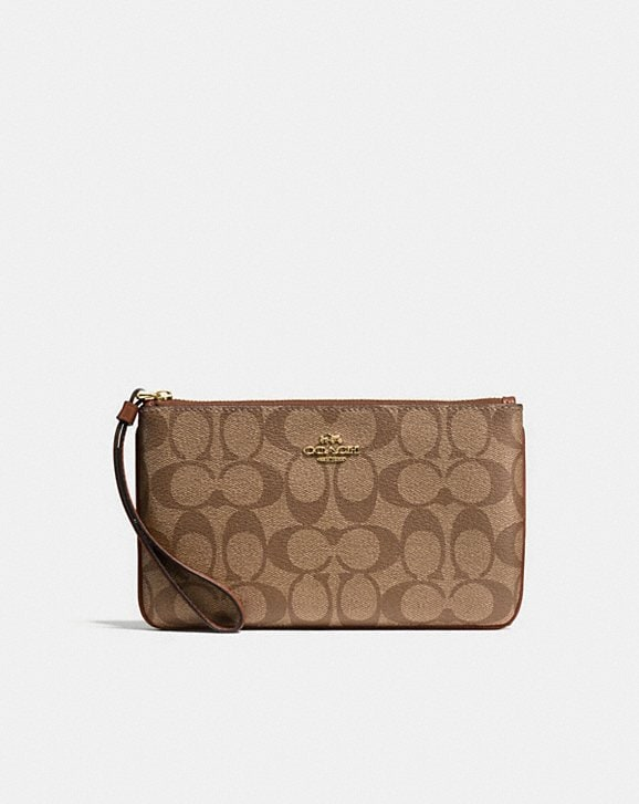 Coach LARGE WRISTLET IN SIGNATURE CANVAS