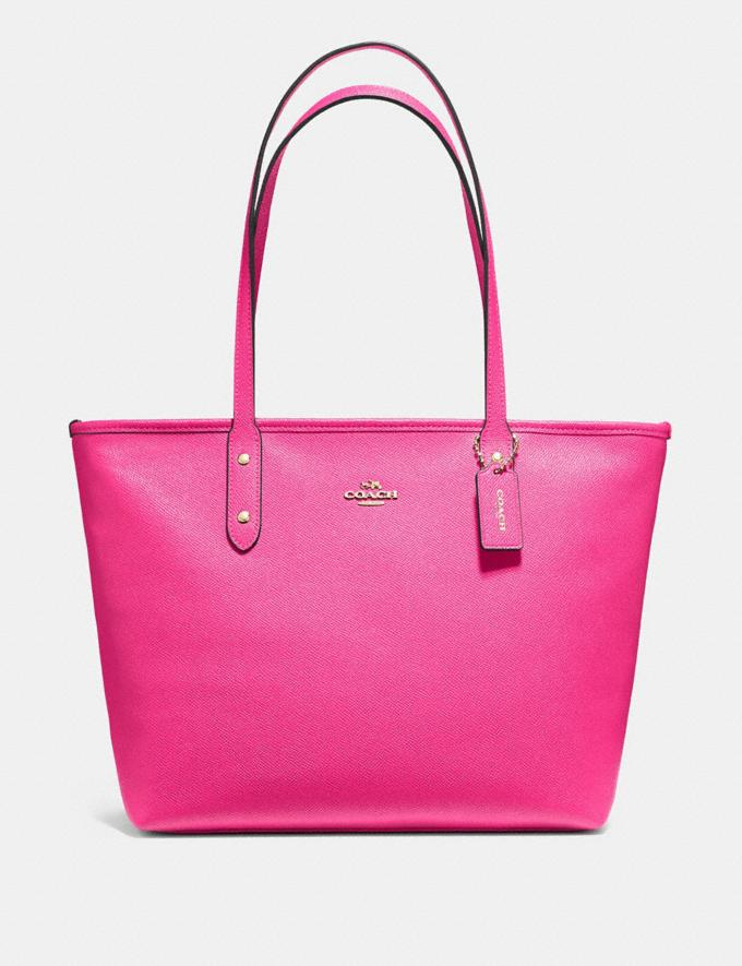Coach City Zip Tote Pink Ruby/Gold Explore Bags Bags Totes
