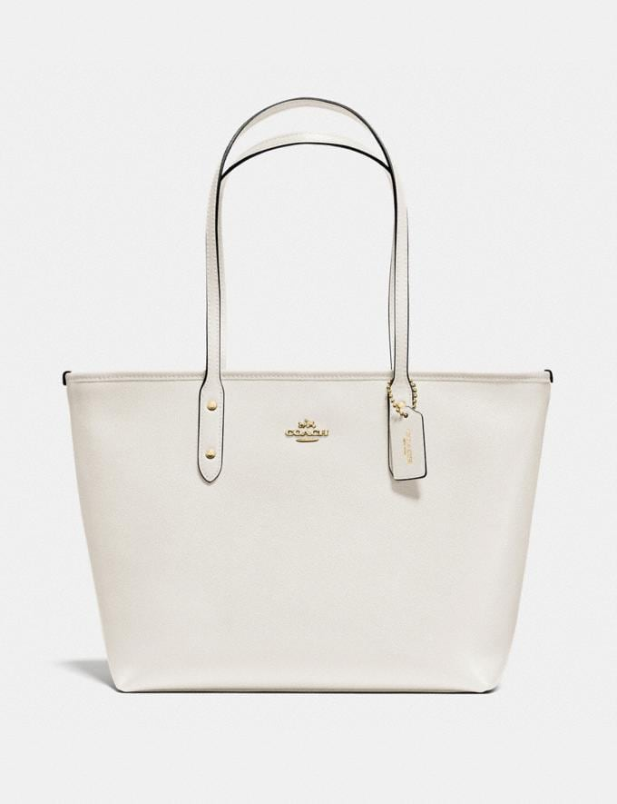 Coach City Zip Tote Chalk/Light Gold Explore Bags Bags Totes