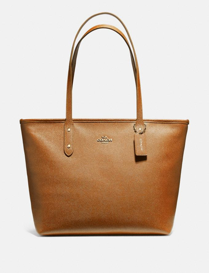 Coach City Zip Tote Light Saddle/Light Gold Explore Bags Bags Totes