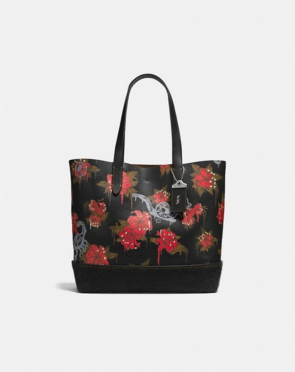 Coach GOTHAM TOTE WITH WILD LILY PRINT