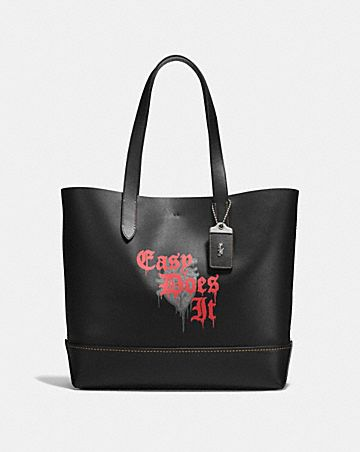 gotham tote with wild love print