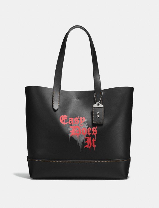 Coach Gotham Tote With Wild Love Print Black/Burnt Sienna Men Bags