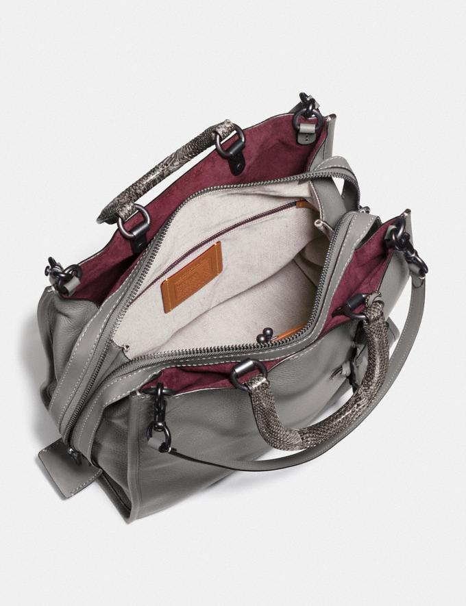 Coach Rogue 36 With Colorblock Snakeskin Detail Heather Grey/Black Copper  Alternate View 1