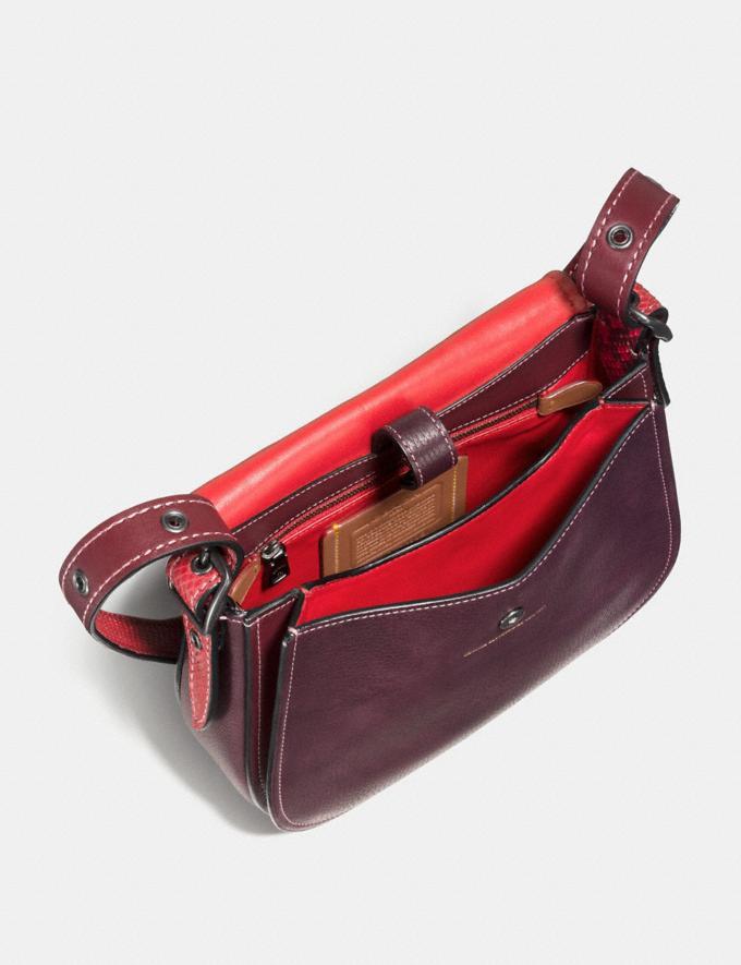 Coach Saddle 23 With Colorblock Snakeskin Detail Dark Denim/Old Brass Back In Stock Back In Stock Bags Alternate View 1