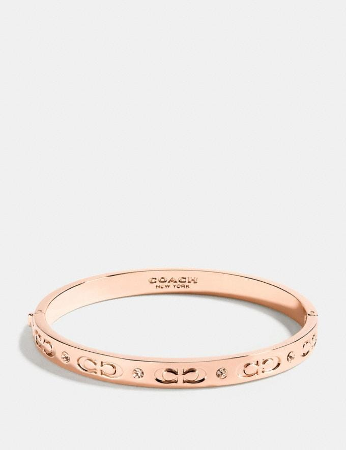 Coach Kissing C Hinged Bangle Rosegold