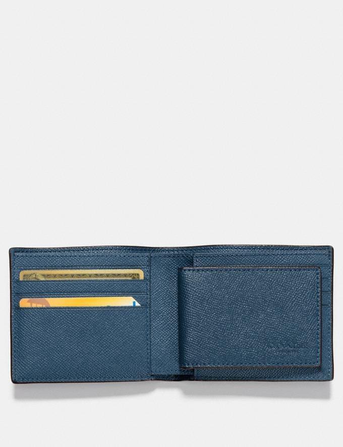 Coach Compact Id Wallet Dark Denim Explore Men Explore Men Wallets Alternate View 1