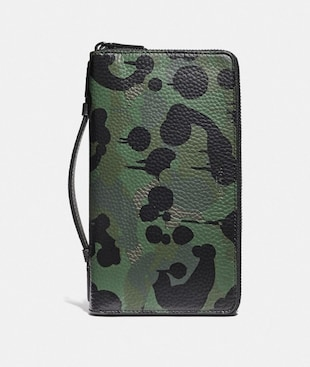 DOUBLE ZIP TRAVEL ORGANIZER WITH WILD BEAST PRINT