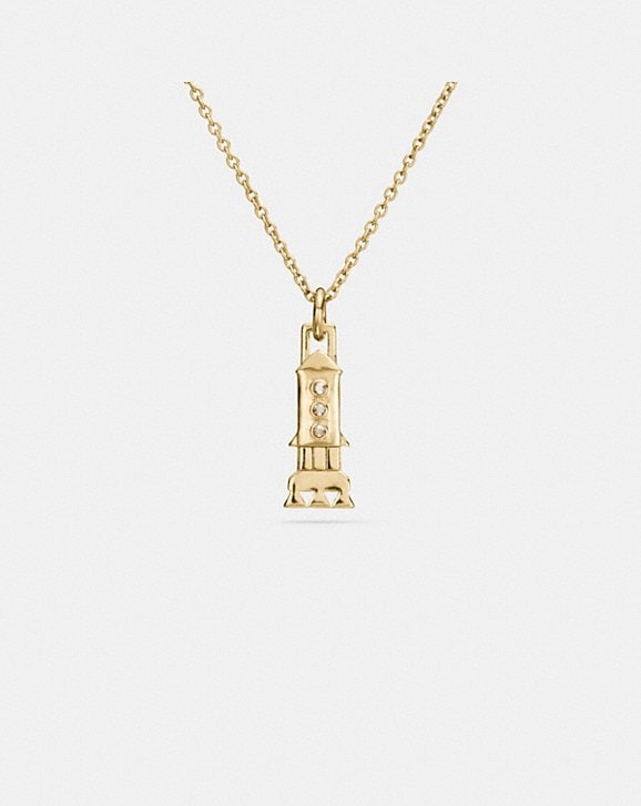 Coach MINI GOLD PLATED ROCKET NECKLACE