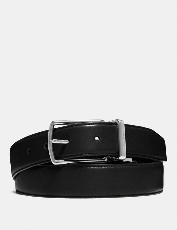 Coach Modern Harness Cut-To-Size Reversible Belt Black/Dark Brown