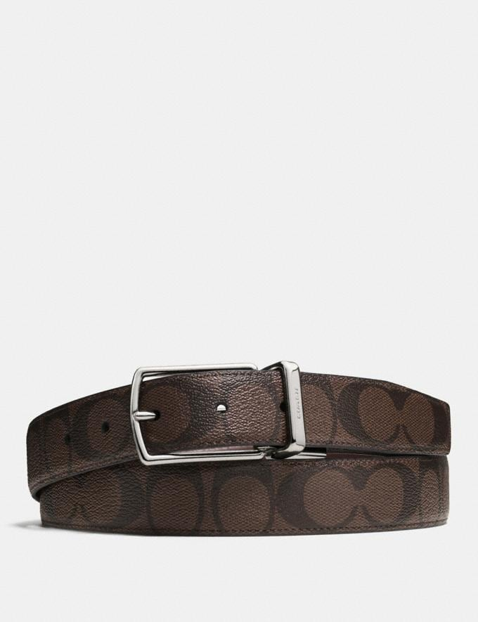 Coach Modern Harness Cut-To-Size Reversible Belt in Signature Canvas Mahogany/Brown Deals 500+ Styles at 70% Off