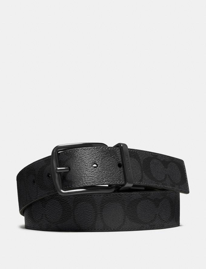 Coach Wide Harness Cut-To-Size Reversible Belt in Signature Canvas Black/Black Deals Deals Of The Week