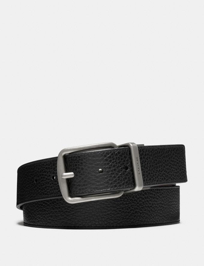 Coach Wide Harness Cut-To-Size Reversible Belt Black/Dark Brown