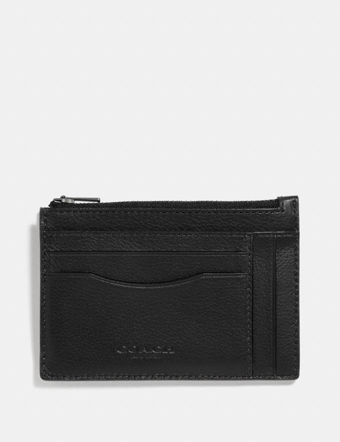 Coach Multiway Zip Card Case Black/Black Antique Nickel