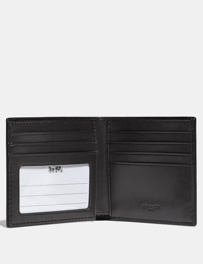 Coach Id Billfold Wallet in Signature Canvas Charcoal/Black/Black Antique Nickel  Alternate View 1