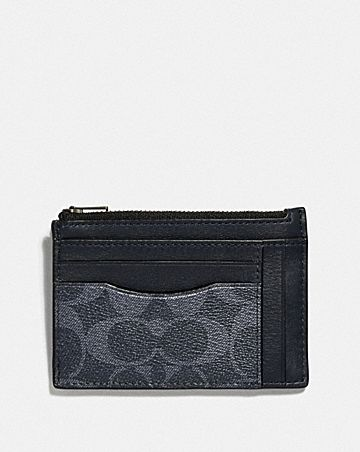 multiway zip card case in signature canvas