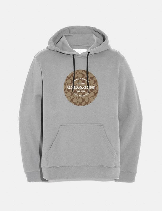 Coach Pullover Hoodie Heather Grey