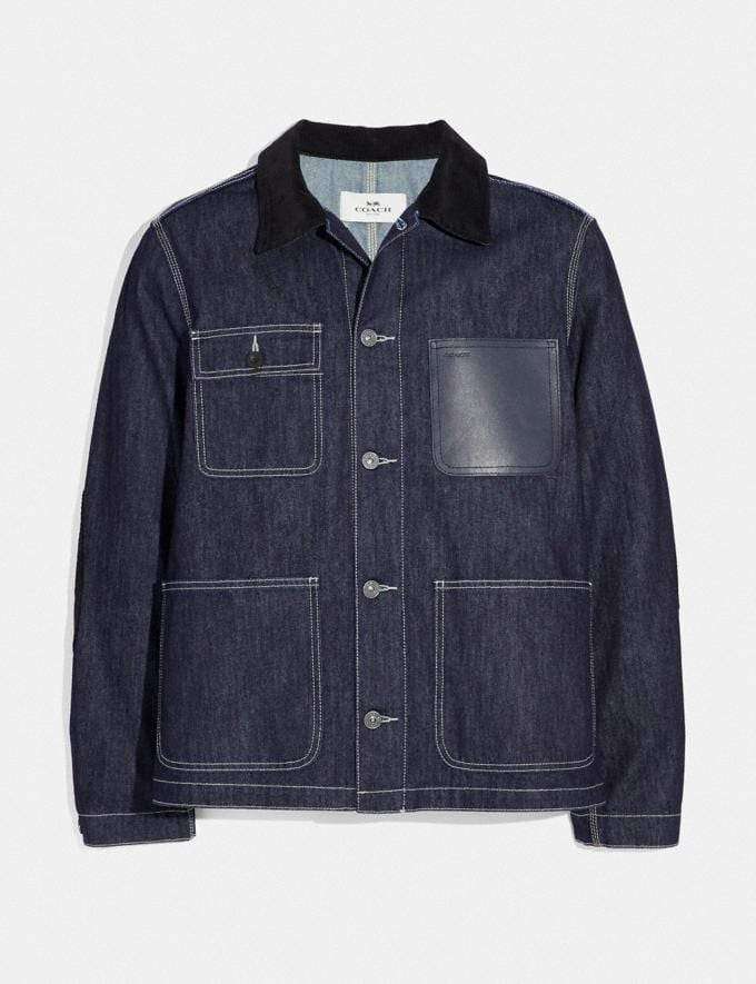 Coach Denim Barn Jacket Raw Denim