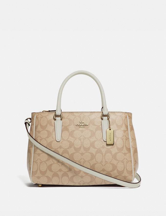 Coach Surrey Carryall in Signature Canvas Light Khaki/Chalk/Imitation Gold Explore Women Explore Women Bags