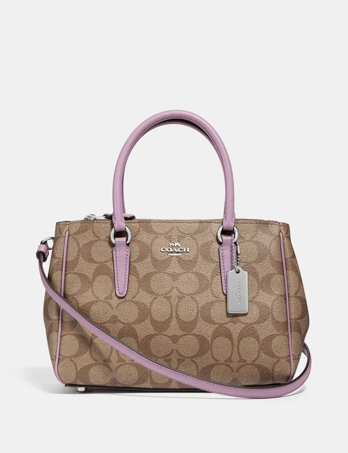 Coach Mini Surrey Carryall in Signature Canvas Khaki/Jasmine/Silver Explore Women Explore Women Bags
