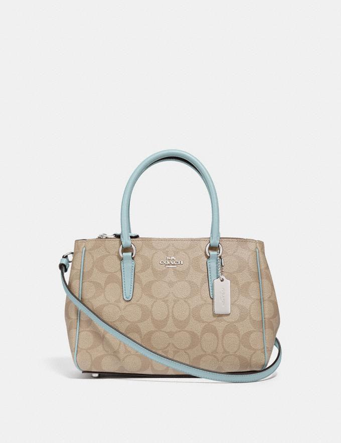 Coach Mini Surrey Carryall in Signature Canvas Light Khaki/Seafoam/Silver Explore Women Explore Women