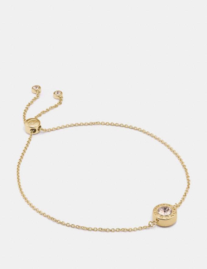 Coach Open Circle Slider Bracelet Gold