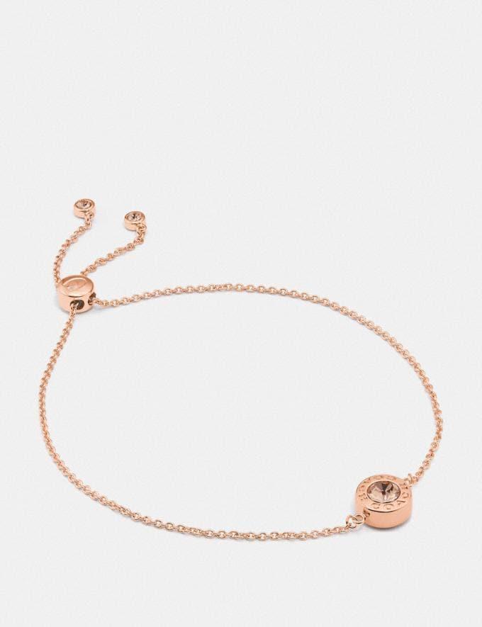 Coach Open Circle Slider Bracelet Rosegold
