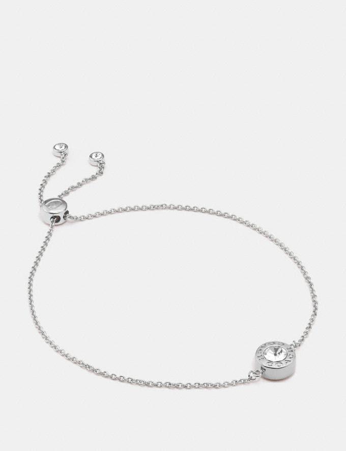 Coach Open Circle Slider Bracelet Silver