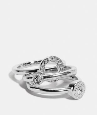 OPEN CIRCLE HALO RING SET