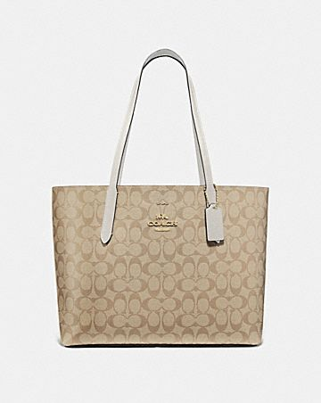 avenue tote in signature canvas
