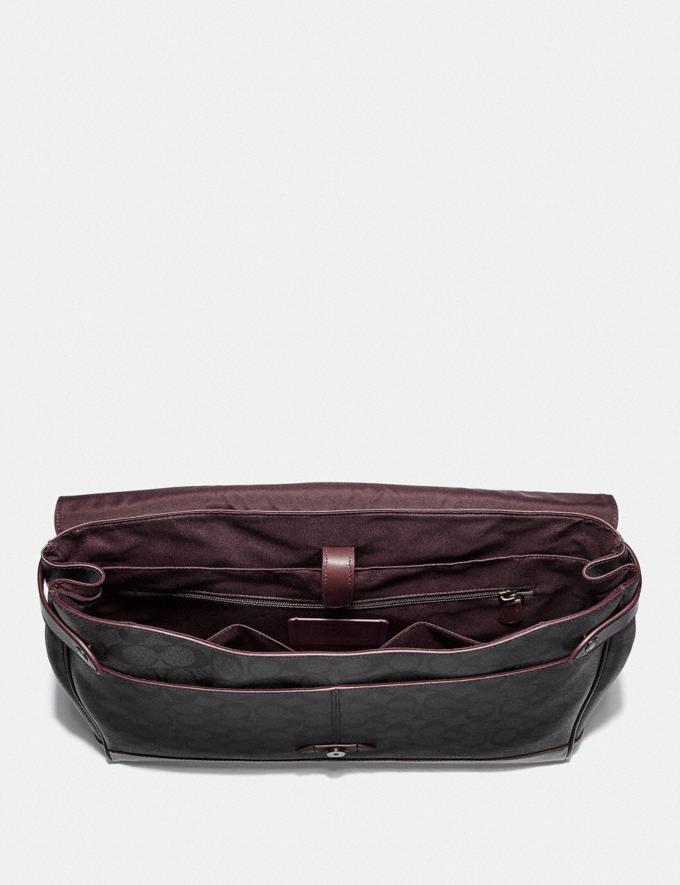 Coach Hudson Messenger in Signature Canvas Black/Black/Oxblood/Black Copper Finish Men Bags Alternate View 1