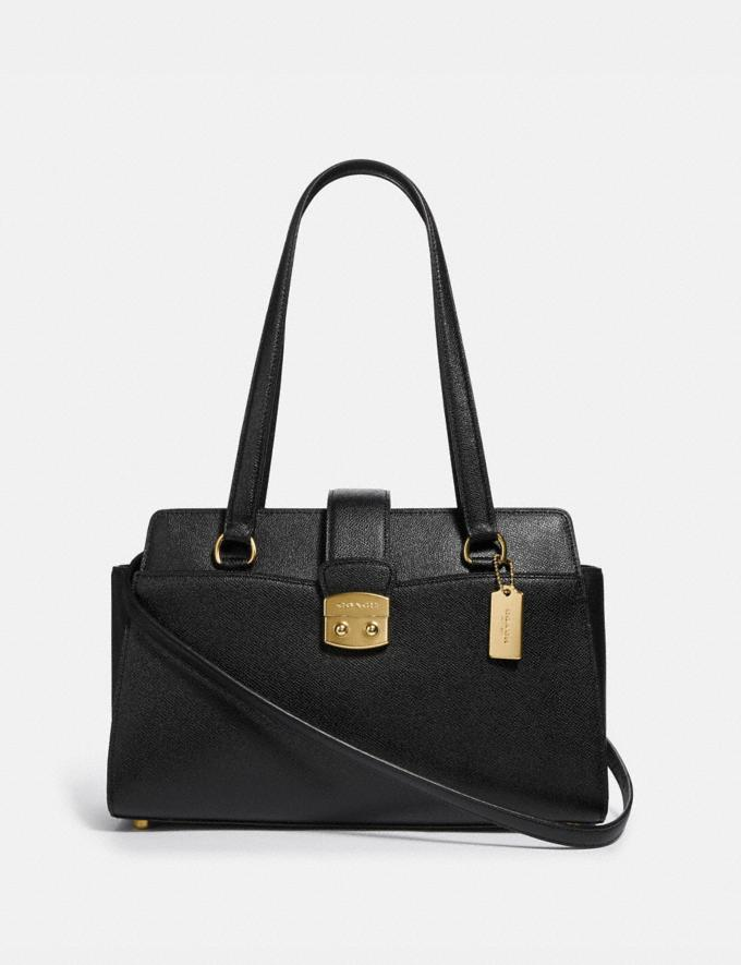 Coach Avary Carryall Black/Light Gold Explore Bags Bags Business Bags