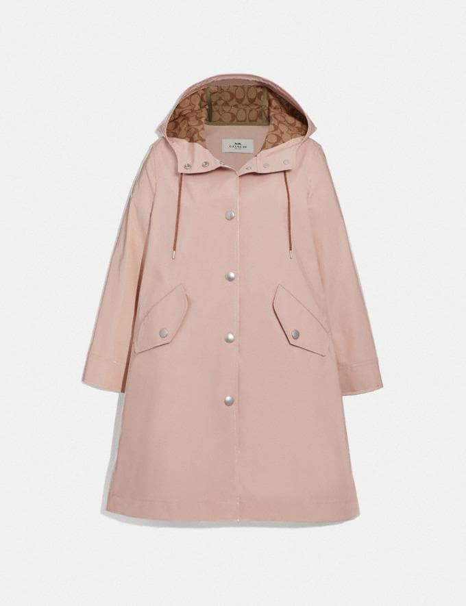 Coach Raincoat With Signature Lining Navy