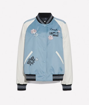 KEITH HARING EMBROIDERED SOUVENIR JACKET