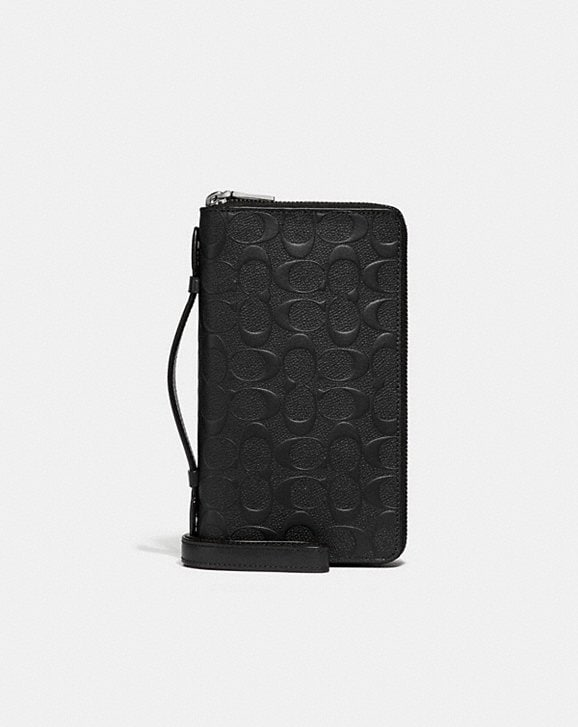 Coach DOUBLE ZIP TRAVEL ORGANIZER IN SIGNATURE LEATHER