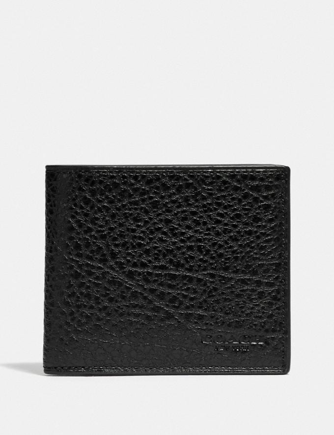Coach Id Billfold Wallet Qb/Black 9.3 Outlet sale and back in stock