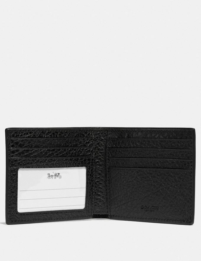 Coach Id Billfold Wallet Qb/Black 9.3 Outlet sale and back in stock Alternate View 1