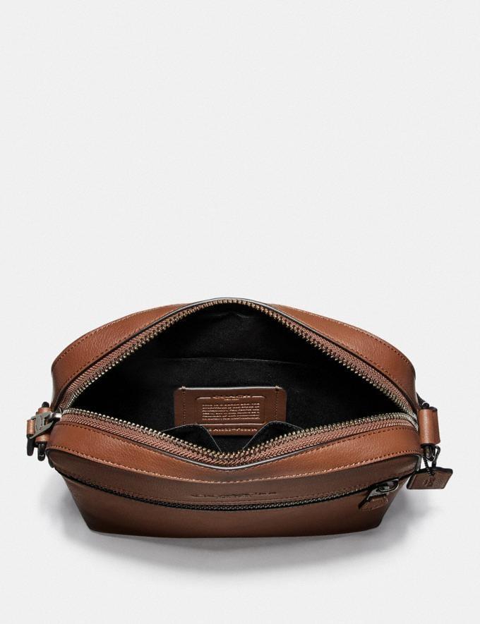 Coach Houston Flight Bag Saddle/Black Antique Nickel Men Bags Alternate View 1