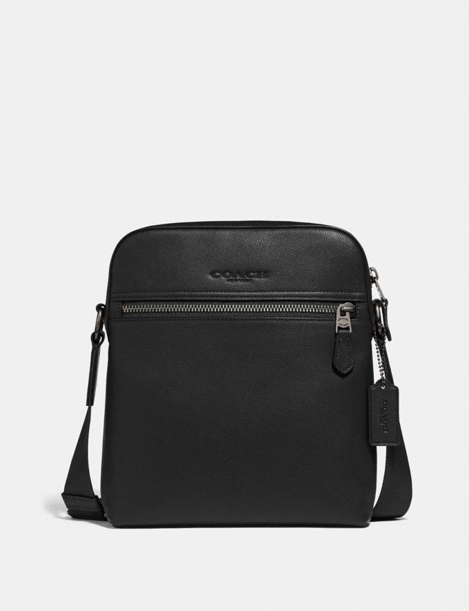 Coach Houston Flight Bag Black/Black Antique Nickel