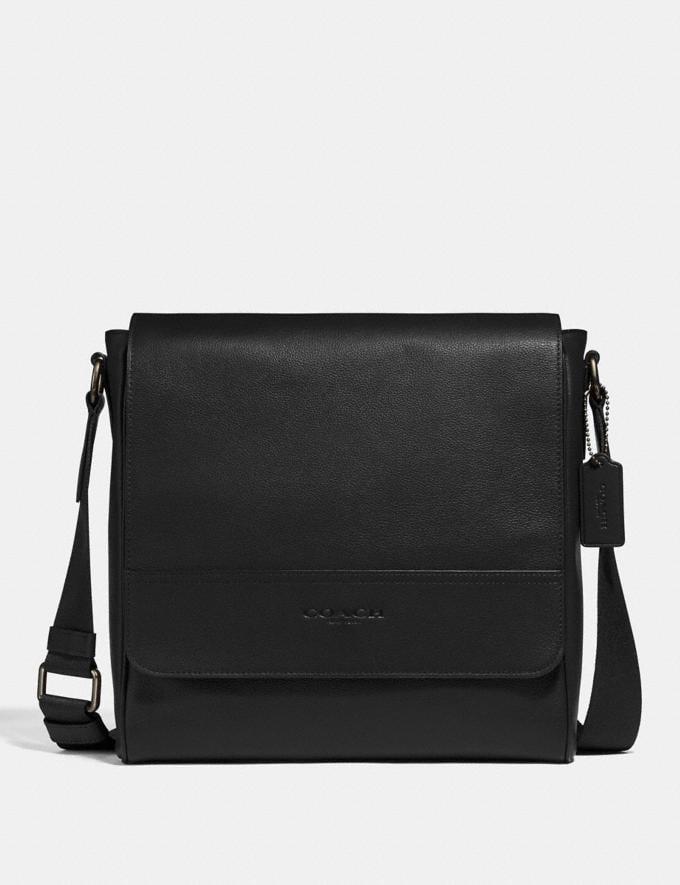 Coach Houston Map Bag Black/Black Antique Nickel