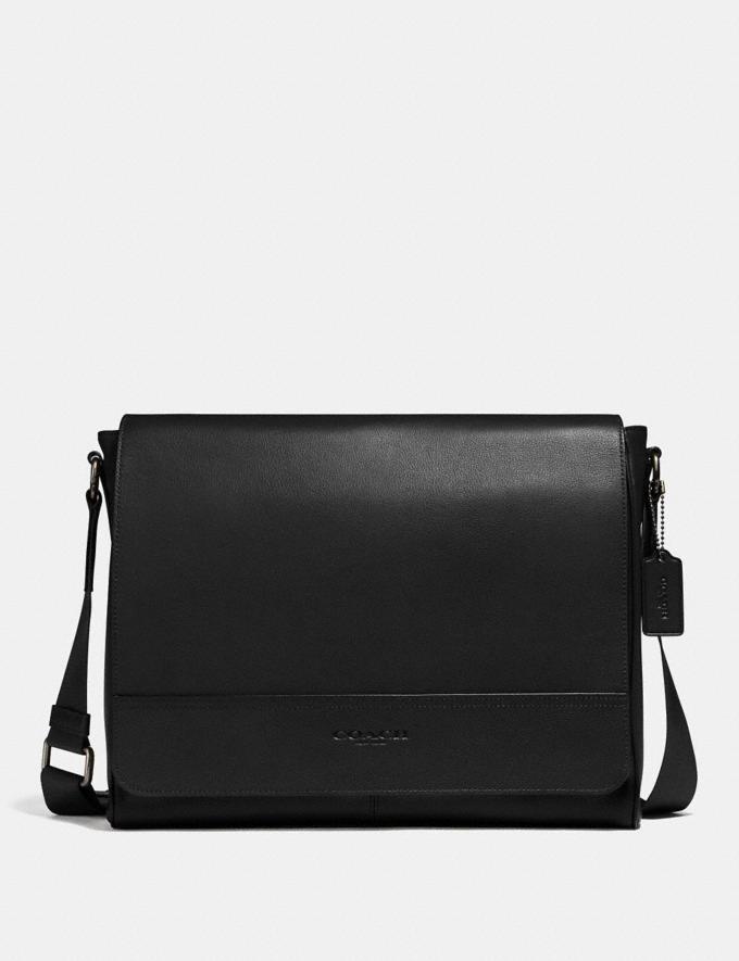 Coach Houston Messenger Black/Black Antique Nickel Explore Men Explore Men Bags