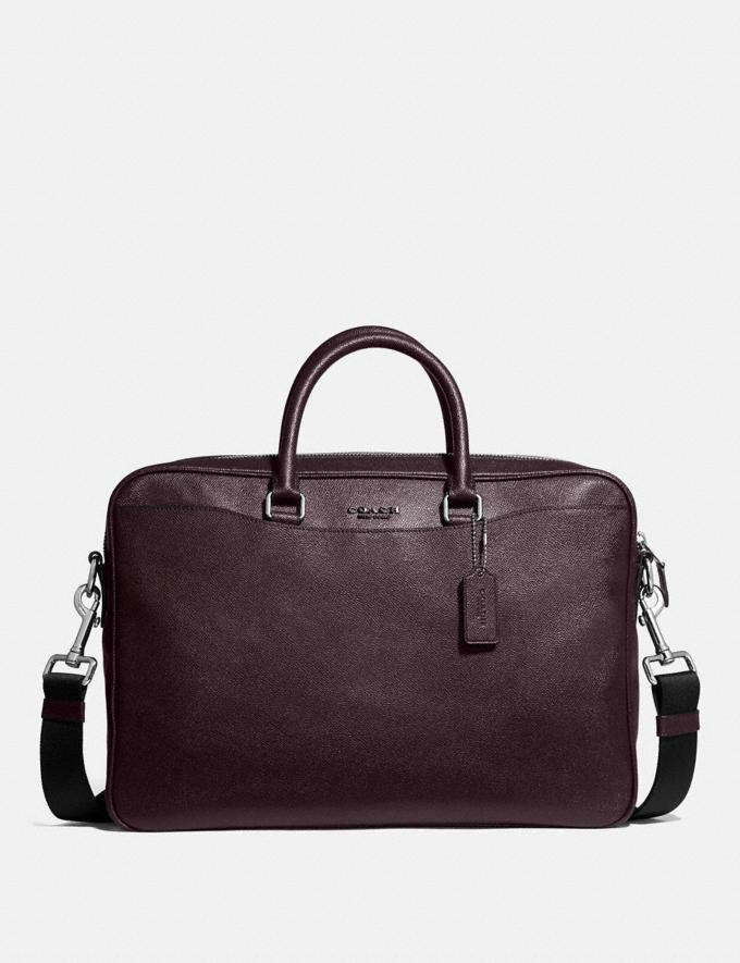 Coach Beckett Slim Brief Ni/Oxblood Men Bags