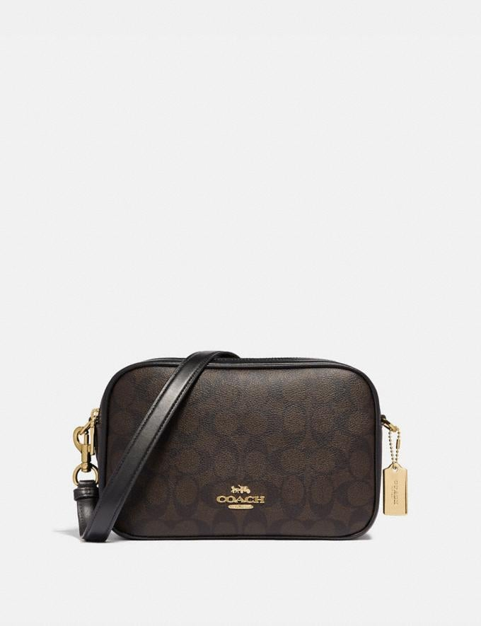 Coach Jes Crossbody in Signature Canvas Brown/Black/Light Gold Deals Spring Steals: Just Reduced