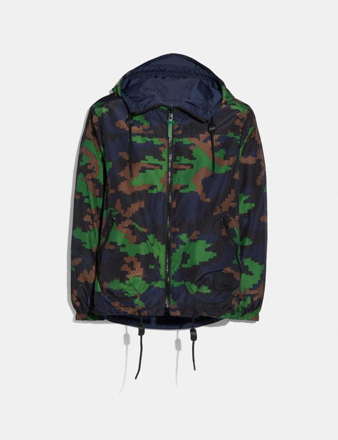 Coach Seasonal Print Reversible Nylon Trainer Navy/Green Camo