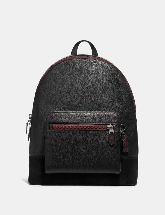Coach West Backpack With Gothic Coach Script Black