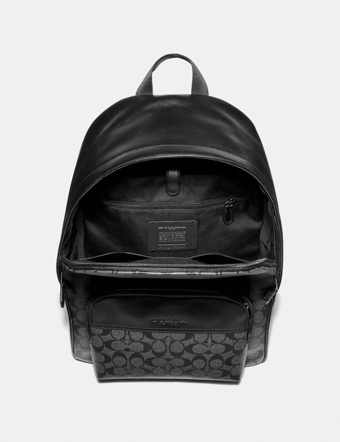 Coach Houston Backpack in Signature Canvas Mahogany/Black/Black Antique Nickel Men Bags Alternate View 1