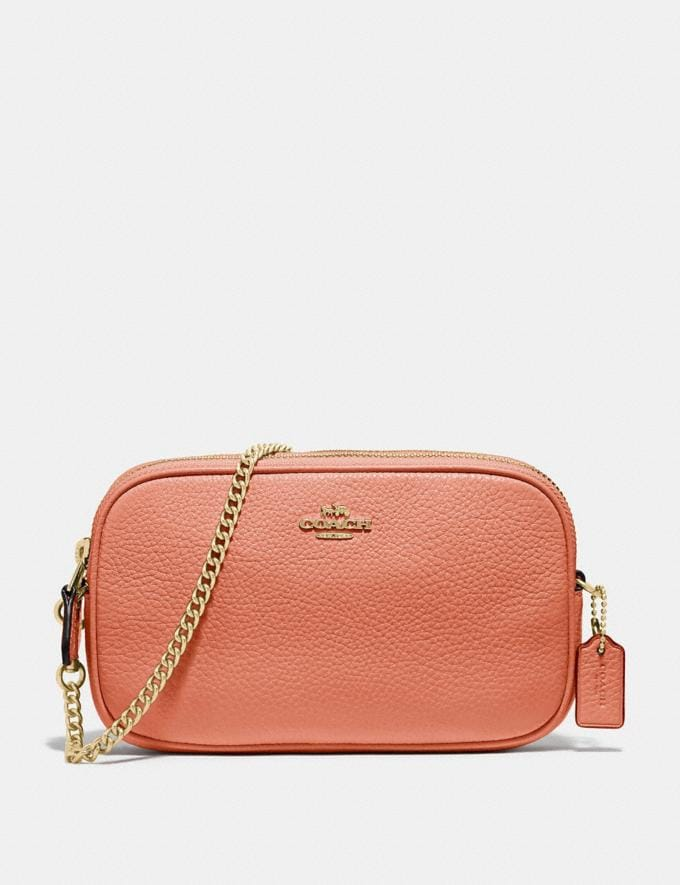 Coach Crossbody Pouch Light Coral/Gold Explore Bags Bags Crossbody Bags
