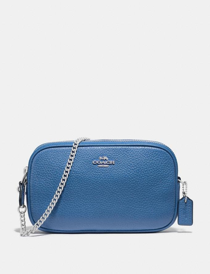 Coach Crossbody Pouch Sky Blue/Silver Explore Bags Bags Crossbody Bags