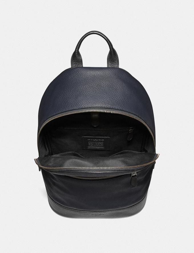 Coach West Slim Backpack Black/Black Antique Nickel Explore Men Explore Men Bags Alternate View 1