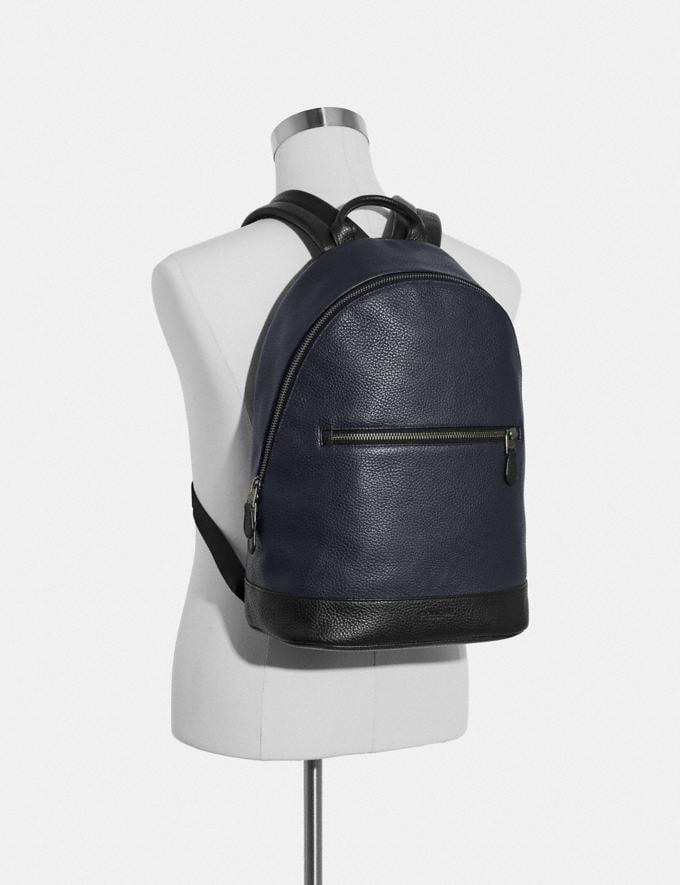 Coach West Slim Backpack Black/Black Antique Nickel Explore Men Explore Men Bags Alternate View 2